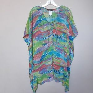 Ralph Lauren | Watercolor top coverup kaftan S/M